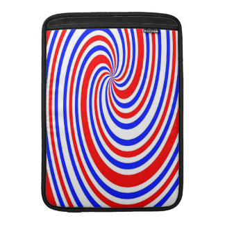 red, white and blue swirl sleeve for MacBook air