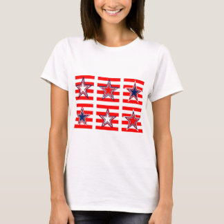 red,white and blue T-Shirt