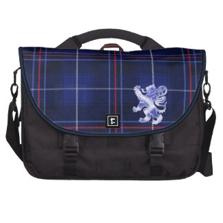 Red, White and Blue Tartan with Lion Rampant Bag For Laptop