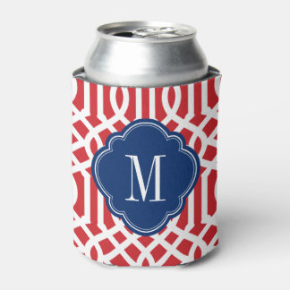 Red White and Blue Trellis Monogram