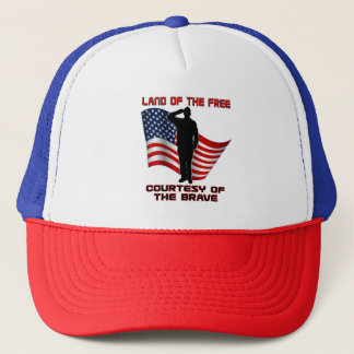 Red White and Blue Unique Veteran and Flag Cap Hat
