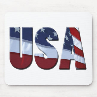 Red White and Blue USA Mousepad