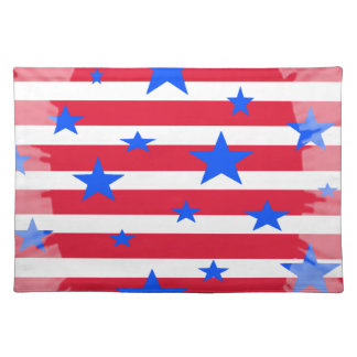 Red White and Blue USA Stars and Stripes Placemat