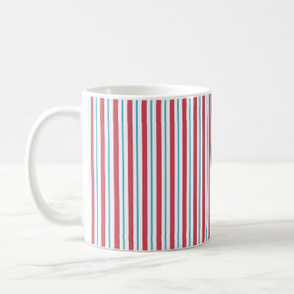 Red, White, and Blue Vertical Stripes Mugs