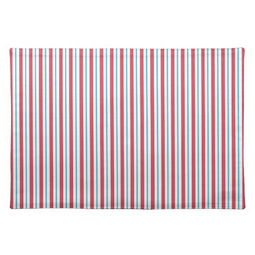 Red, White, and Blue Vertical Stripes Placemat