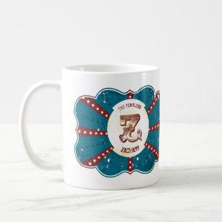 "Red White and Blue Vintage Circus Monogram ""Z"" Coffee Mug"