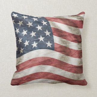 Red White and Blue Vintage USA Flag Cushion