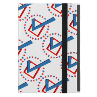 Red White and Blue Vote Elections Check Mark Cases For iPad Mini