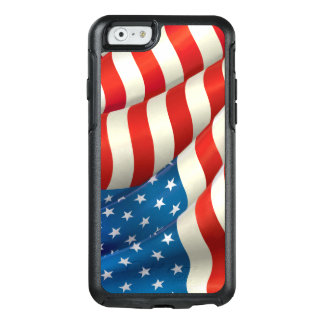 Red White and Blue Waving U.S. Flag OtterBox iPhone 6/6s Case