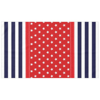 Red White and Blue with White Stars & Stripes Tablecloth
