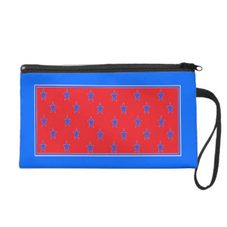 red white and blue wrist bag wristlet