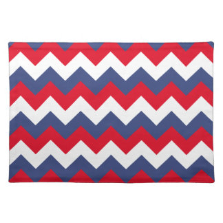 Red White and Blue Zigzag Placemat