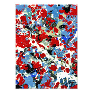 RED, WHITE AND BLUES ~ (abstract art design) ~ Invitation