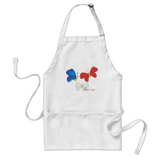 Red, White and Butterflies Standard Apron