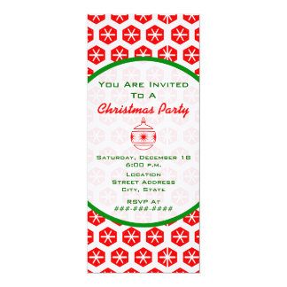 Red White And Green Christmas Party Invite