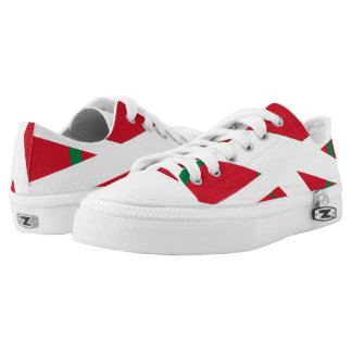 Red White and Green Pathways Lo-Top Printed Shoes