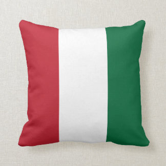 Red, White and Green Stripes Throw Cushions