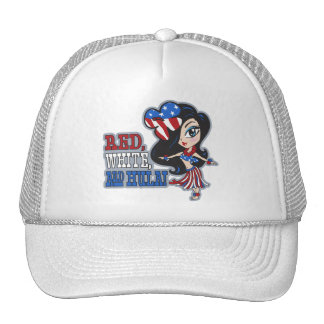 Red, White and Hula Trucker Hat