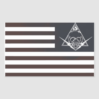 red white and paranoid rectangular sticker