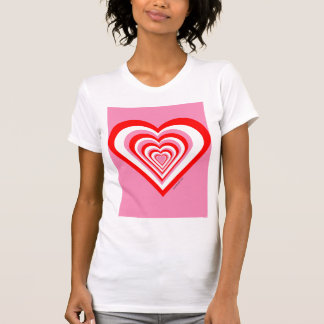 Red white and pink heart tank top