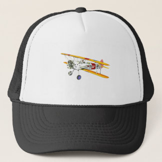 Red White and Yellow Military Training Biplane Trucker Hat
