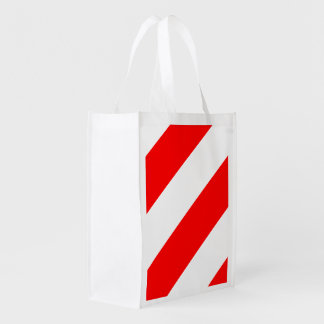 Red White Attention Warning Stripes