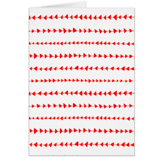 Red White Aztec Arrows Pattern Card