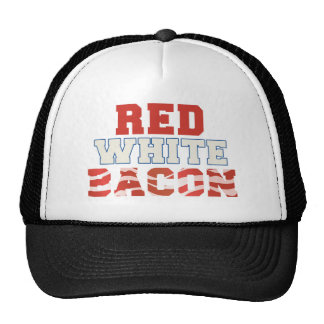 Red, White & Bacon Trucker Hats