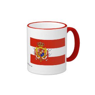 Red White Banner Grand Duchy of Tuscany Mugs