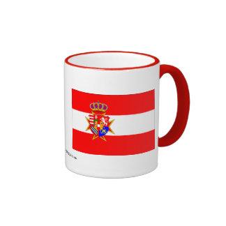 Red White Banner Grand Duchy of Tuscany Coffee Mugs