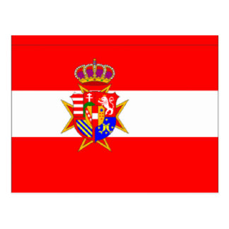 Red White Banner Grand Duchy of Tuscany Postcard