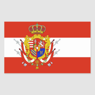 Red White Banner Grand Duchy of Tuscany Rectangular Sticker