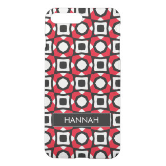 Red White Black abstract ladybird iPhone 7 Plus Case
