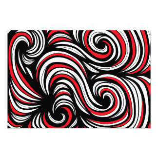 Red White Black Abstract Photo Art