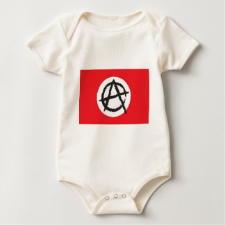 Red, White & Black Anarchy Flag Sign Symbol Baby Bodysuit
