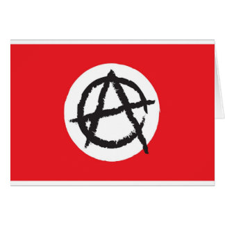 Red, White & Black Anarchy Flag Sign Symbol Card