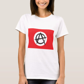 Red, White & Black Anarchy Flag Sign Symbol T-Shirt