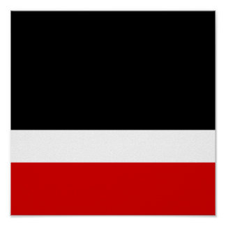 Red White Black Colorblock Poster
