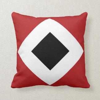 Red, White, Black Diamond Pattern Throw Pillows