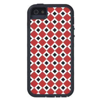 Red, White, Black Diamond Pattern Tough Xtreme iPhone 5 Case