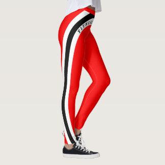 Red White Black - Fitness Addict! Leggings