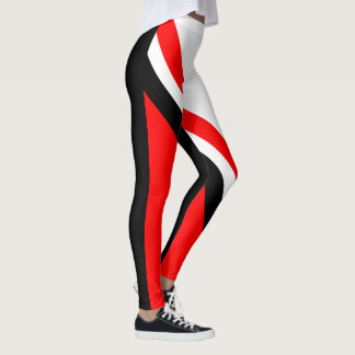 Red White Black Leggings