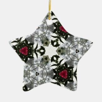 Red White Black Masculine Pattern Ceramic Star Decoration