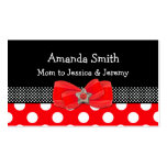 Red, White, & Black Polka Dot Mummy Card Pack Of Standard Business Cards