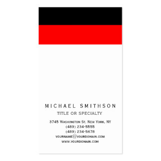 Red White Black Simple Consultant Business Card