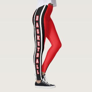 Red, White & Black Sport Jersey Stripe - DIY Text Leggings