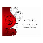 Red White Black Swirls Save The Date