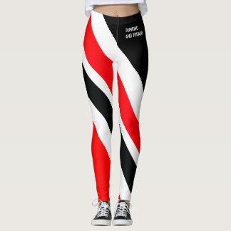 RED WHITE & BLACK T&T PATRIOT LEGGINGS