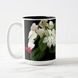 Red White Bleeding Hearts Two-Tone Mug