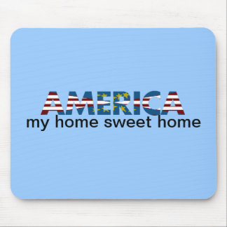 Red White & Blue America Mouse Pad